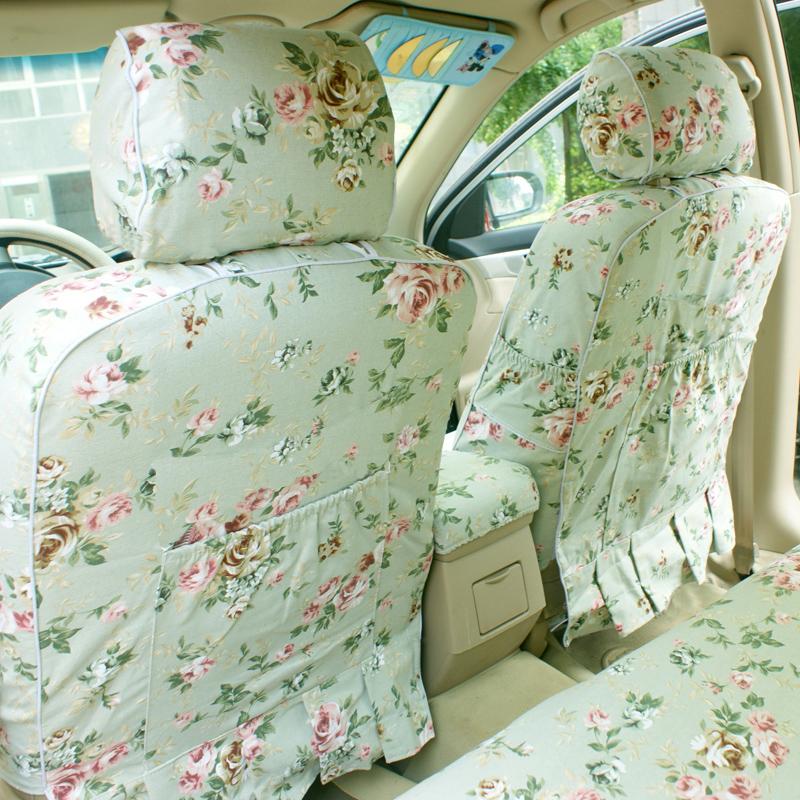 棉布汽车座套全包布艺四季通用福克斯卡罗拉polo英朗坐垫套座椅套