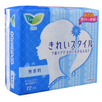 Japanese imports of flowers Wang Le and ya sanitary pads clear self-thin Aunt towel fragrance 14cm72 Tablets
