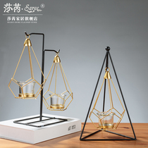 Candlestick pendant Candlelight Dinner prop lamp Nordic Iron candle Table Home decoration creative Personality Romance