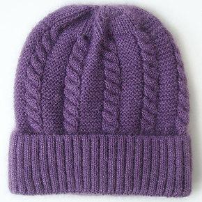 春秋中老年妈妈帽子单层薄款冬天老太太针织毛线帽老人奶奶婆婆女