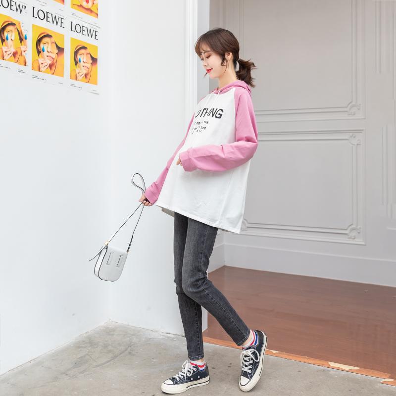 ZMA 2019新款。孕妇秋装套装时尚款外出 连帽卫衣孕妇装秋款套装券后99.00元