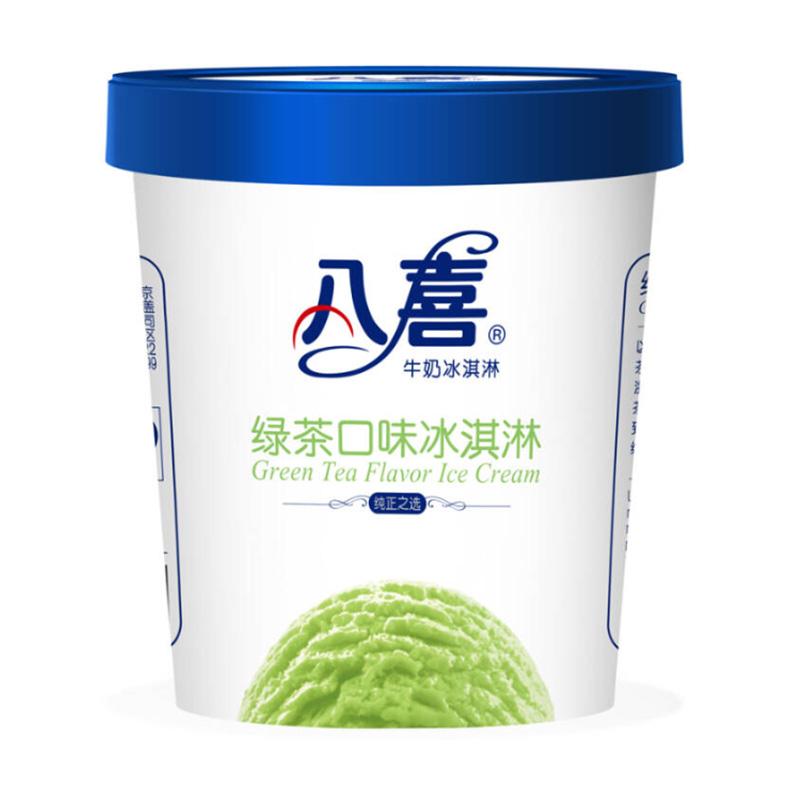 八喜绿茶口味冰淇淋雪糕棒冰冰激淋冰激凌冰糕冰淇凌  283克/杯