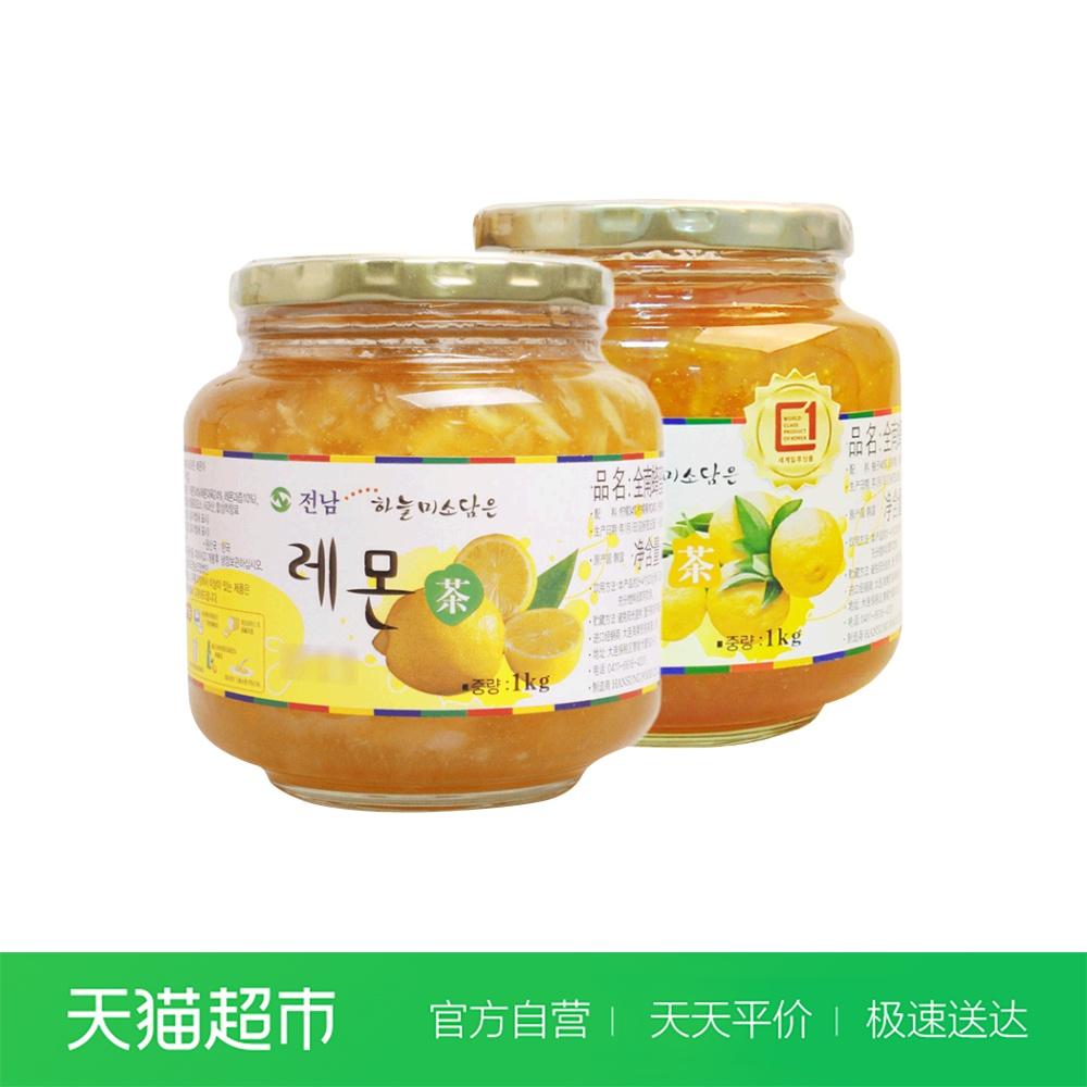 韩国原装进口全南柚子茶1kg+果酱热销214件需要用券