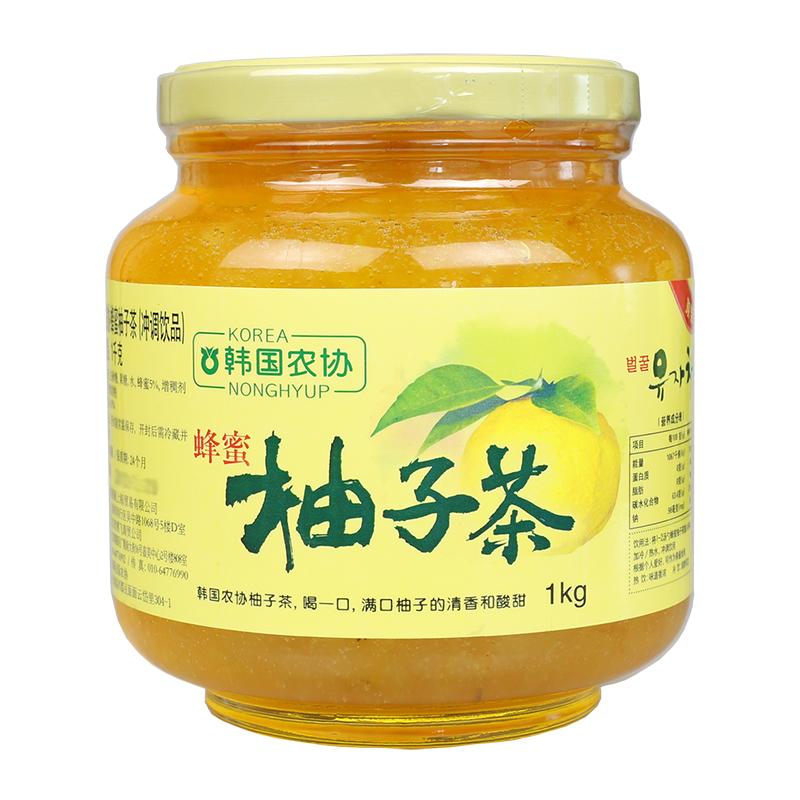 Импорт из южной кореи порыв напиток корея сельское хозяйство объединение мед грейпфрут сын чай 1kg/ бутылка аромат хорошо напиток