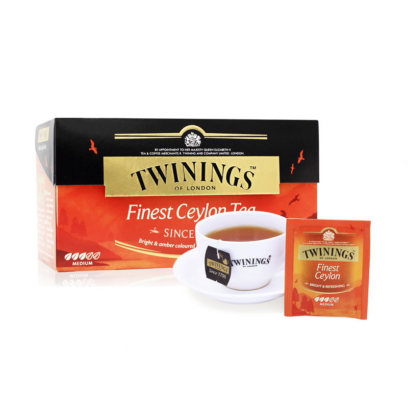 Twinings Twinings UK Imported Tea Fine Ceylon красный чай пакет 25 мешков Teabag 50г