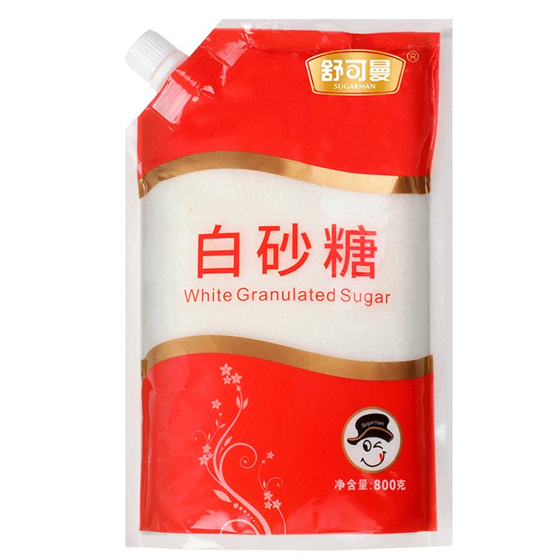 Удобный может человек один белый сахарный песок 800g большие упаковки обуглевание сахар песок сахар белый сахар варка