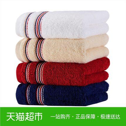 金号纯棉毛巾 成人加厚柔软吸水 酒店巾素色男女洗脸面巾一条装