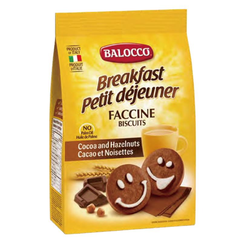 意大利 Balocco百樂可巧克力笑臉餅幹350g 零食小吃