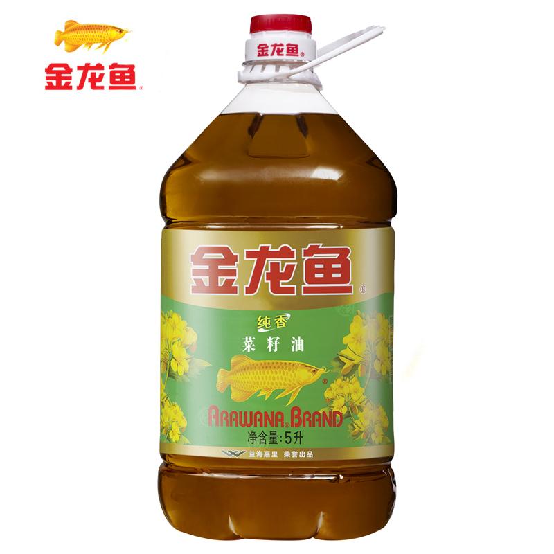 ~天貓超市~金龍魚 純香菜籽油5L 桶 食用油 滴滴菜油香
