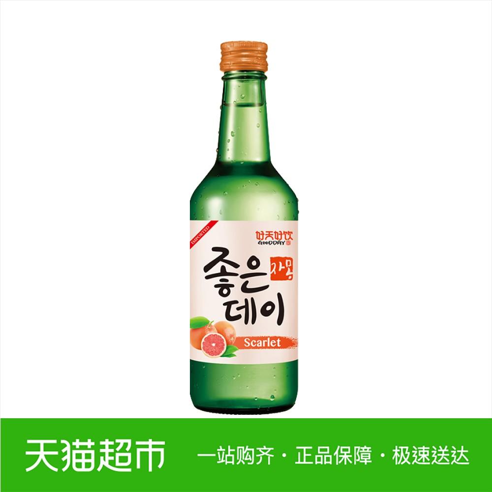 韩国进口好天好饮葡萄柚味果味烧酒清酒配制酒 13.5%VOL 360ml