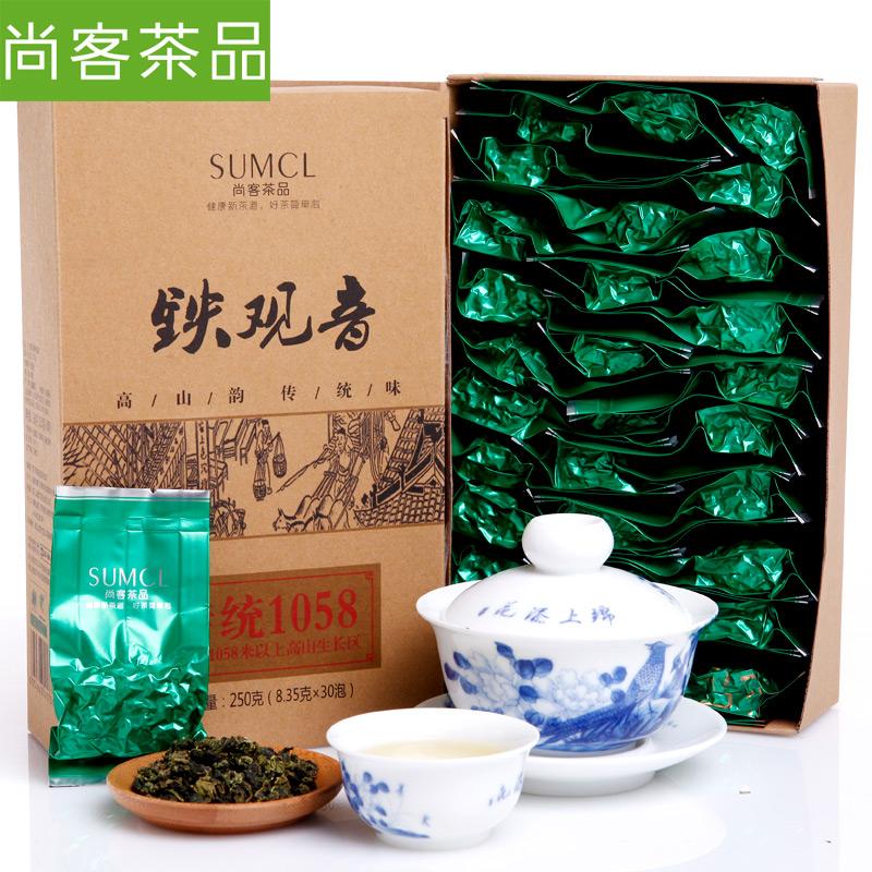 ~天貓超市~ 尚客茶品 安溪鐵觀音1058烏龍茶 茶葉 250g