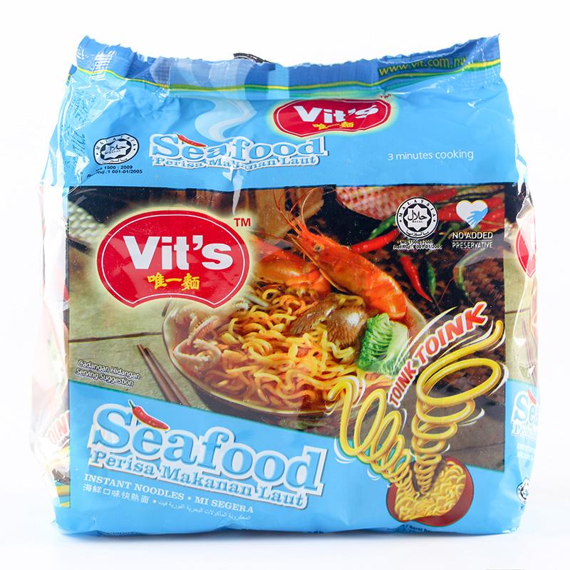 ~天貓超市~馬來西亞 Vit s麵方便麵390g海鮮口味袋裝泡麵