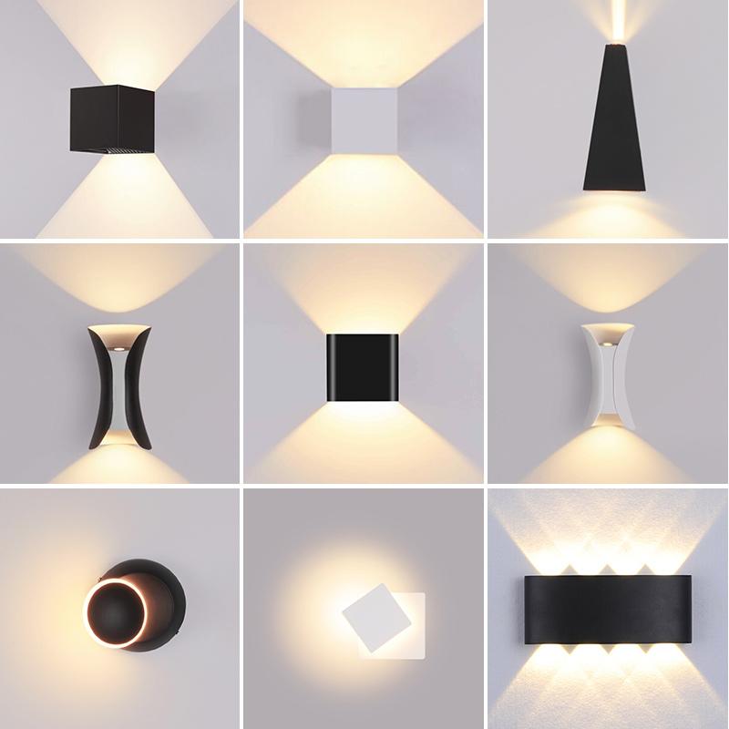 北欧壁灯led防水户外调光LED卧室床头阳台壁灯外墙走廊壁灯简约