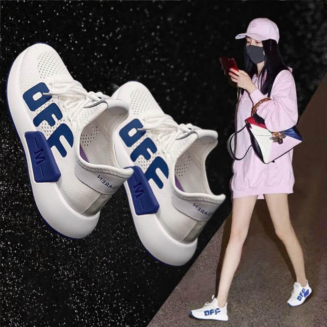 运动鞋女夏2019新款百搭ulzzang原宿镂空透气休闲飞织健身跑步鞋