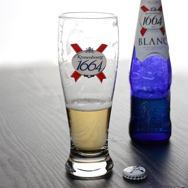 酒吧凯旋1664啤酒杯法国进口Kronebourg专用杯创意玻璃杯水杯特价