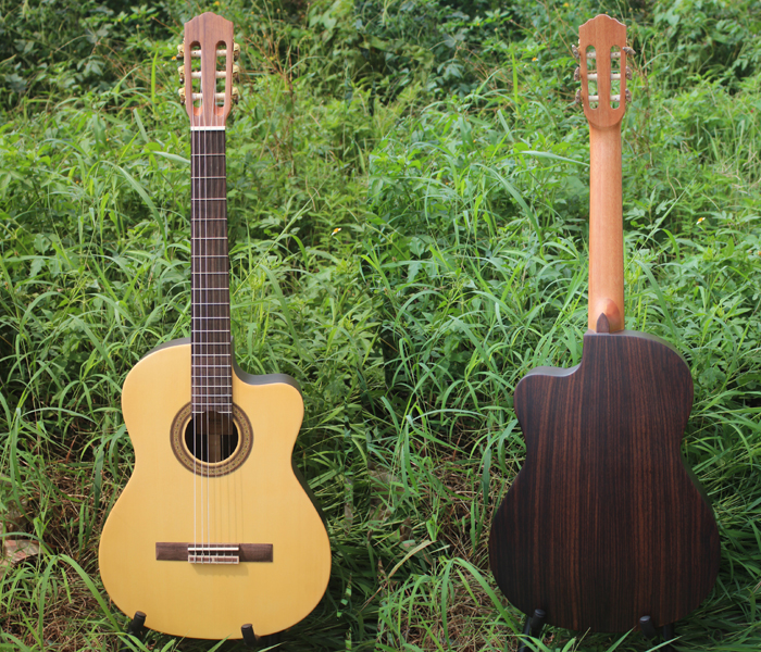 A级正品工藤Kudou全单板古典吉他 高档电箱木吉他 39寸古典吉它