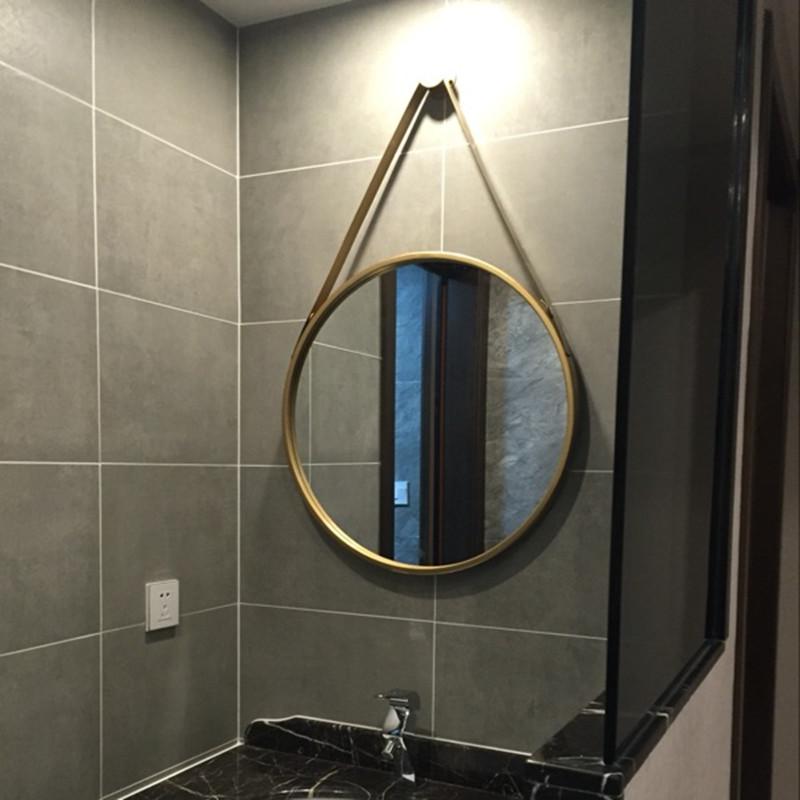 Бесплатная доставка железо настенный круглый зеркало декоративный зеркало ванная комната зеркало косметическое зеркало юань цзин соус зеркало висячее зеркало зеркало