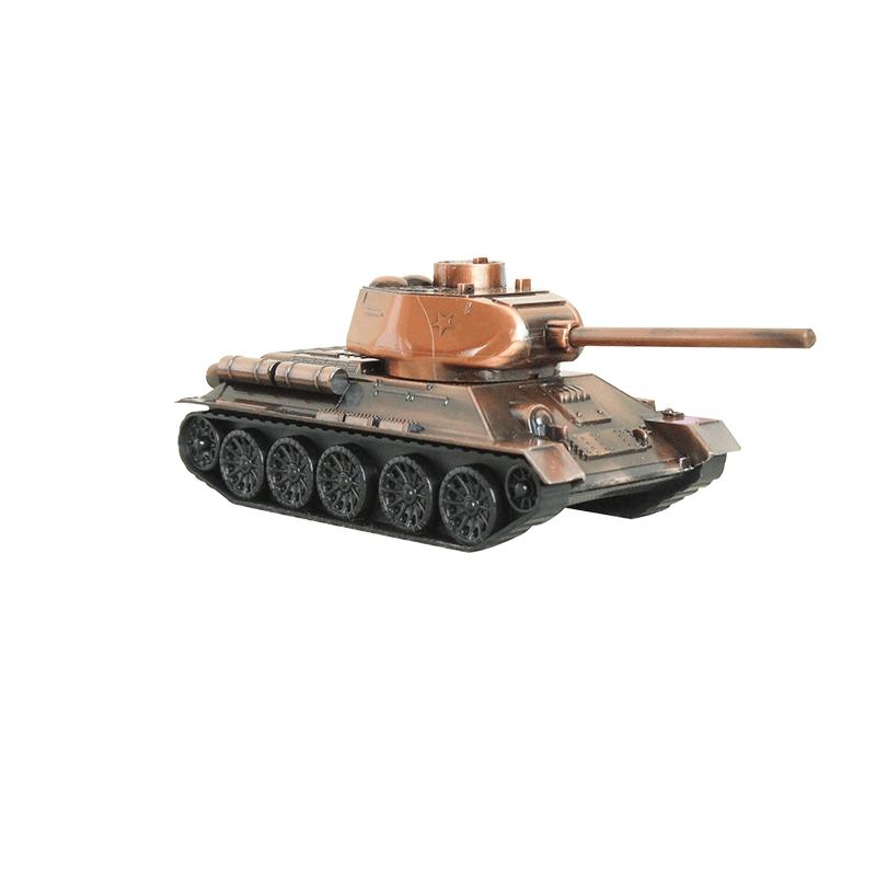 仿真合金军事坦克大炮模型家居装饰工艺摆件送战友同事礼品