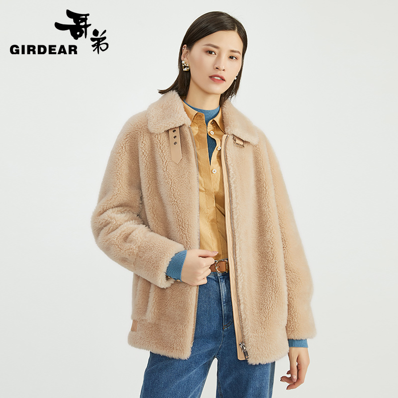 Brother 2020 new autumn and winter clothing lamb wool coat sheep sheared fleece polar fleece coat ladies A400502
