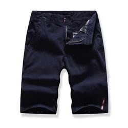 男士工装裤跑量新款多口袋纯色短裤五分裤1801-G907-P28 深蓝色