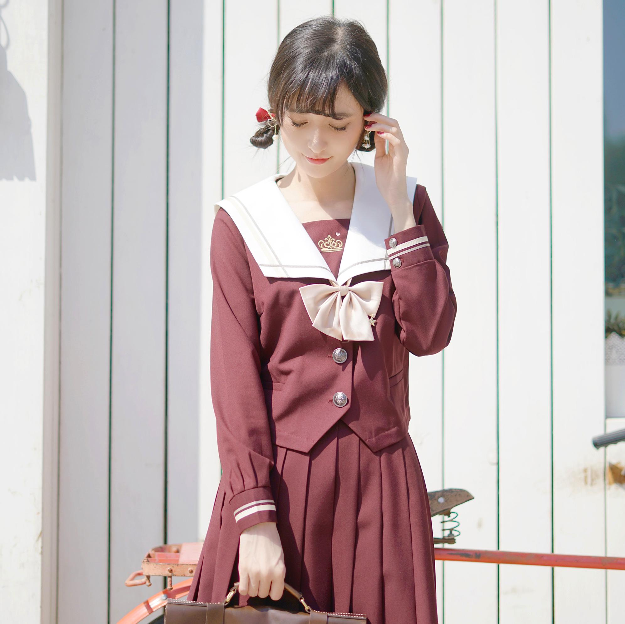 (用50元券)放学后樱桃物语jk秋冬中间服夏服