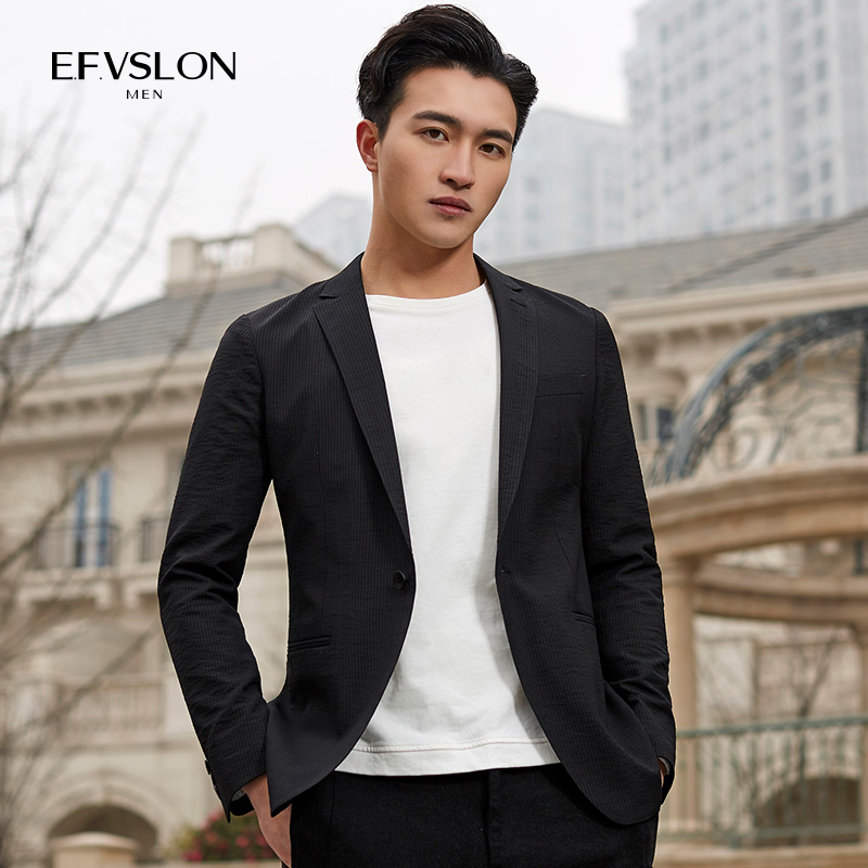 2020 mens spring and autumn Korean slim youth casual suit