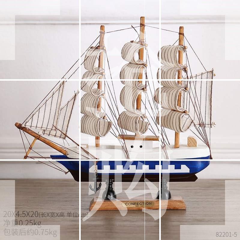 客厅摆件帆船办公桌酒柜北欧工艺品家居装饰品电视柜