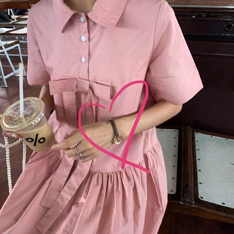 芝士兔 韩国气质复古圆型简约百搭皮带手表小圆盘腕表学生女。
