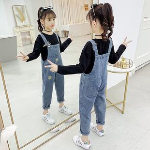 2020新款女童揹帶褲秋裝中大童吊帶褲洋氣兒童韓版長褲小女孩套裝