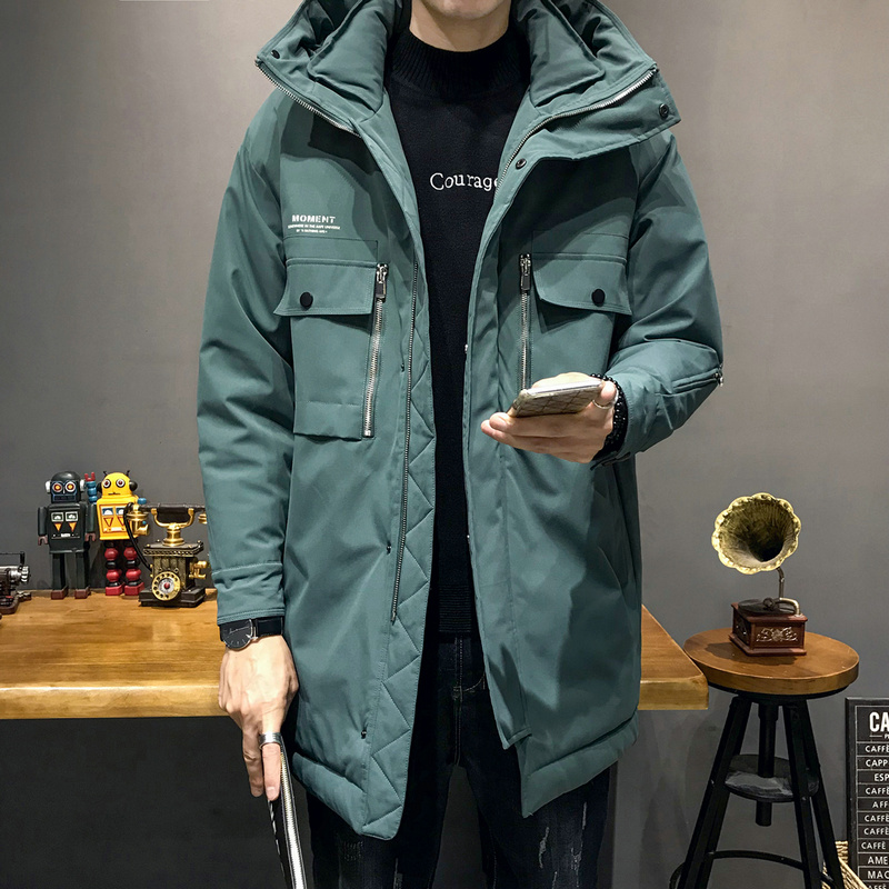 中长款羽绒服男 2019新款冬季外套工装羽绒服DS594TP255