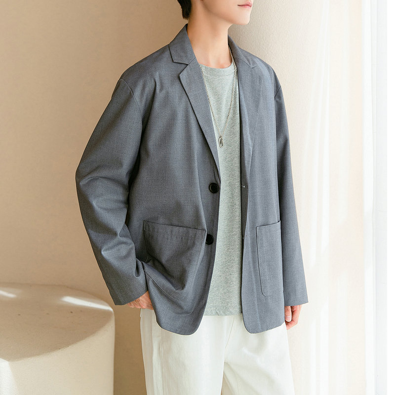 2021新款休闲西装春季单上衣青年韩版小西服百搭外套DF142TP65