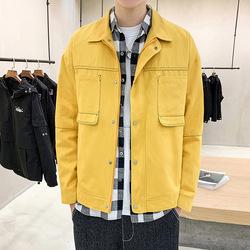 【已质检】男士新款夹克帅气翻领多口袋休闲外套潮牌 DS484TP85