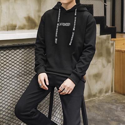 卫衣套装男春季新款韩版男士连帽卫衣休闲运动套装男帅气DS46TP75