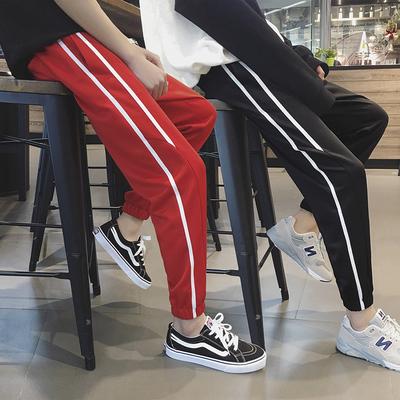 春季男士休闲裤新款韩版潮流百搭收口束脚长裤小脚裤子DS10TP35