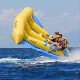 充气水上飞鱼香蕉船浮台 成人艇摩托艇冲浪娱乐 水上乐园设备玩具