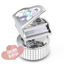 浪漫礼物送女友学生孩子礼物创意生日免费刻字水晶钢琴音乐盒