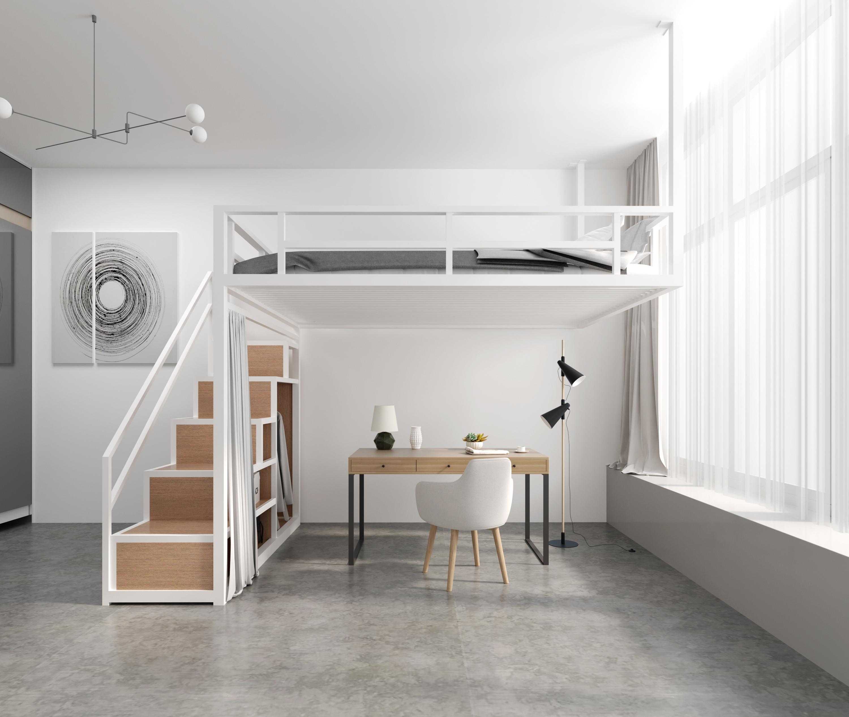 省空间多功能铁艺吊床小户型阁楼式床挂壁床悬挂式床loft高架床