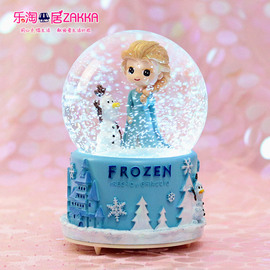 水晶球冰雪奇缘爱莎公主飘雪音乐盒八音盒艾莎儿童玩具女生日礼物图片