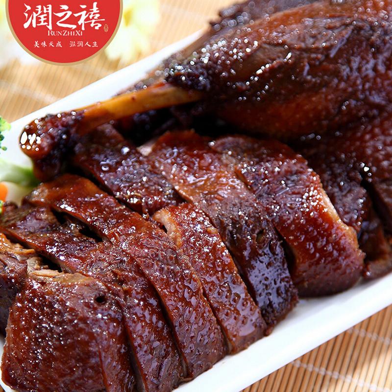 【润之禧_酱鸭300gx2袋】浙江嘉兴特产 卤味肉类零食熟食鸭肉食品