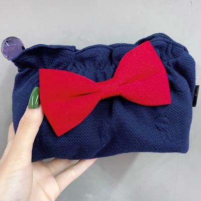 包邮韩国进口Fala正品米奇头布艺蝴蝶结便携手拿化妆包袋收纳包包