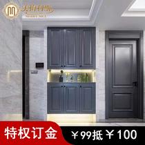 特权订金美梅利斯原木门定制实木烤漆门简约白色室内门房门套装门