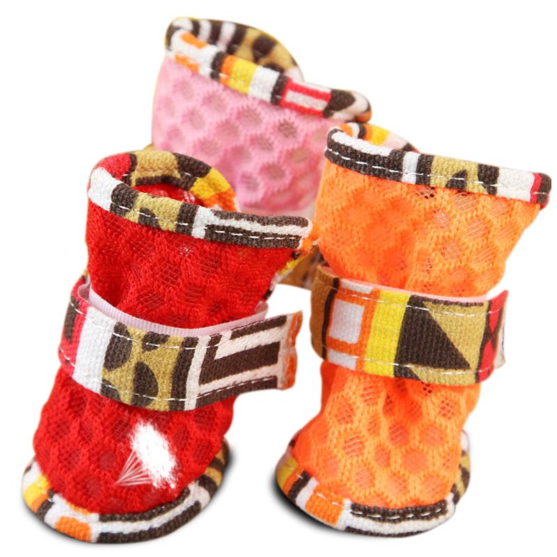 狗狗鞋子春夏款鏤空網鞋小狗貴賓泰迪比熊博美寵物鞋子小型犬涼鞋