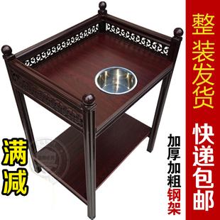 包邮麻将机带烟灰缸加厚钢木小茶几桌棋牌室茶楼茶水架台边几角几价格