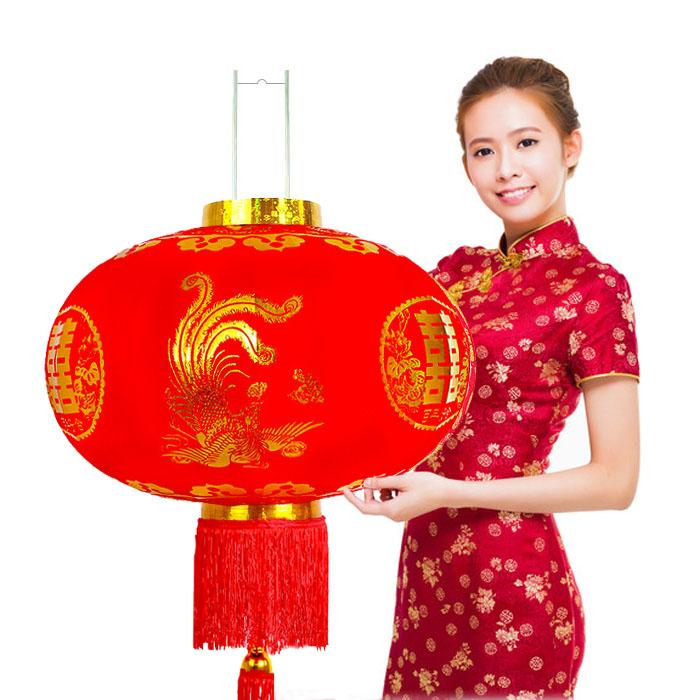 Свадебное торжество и счастье свет клеть свадебное свет Клетчатая тряпка Longfengxi слово Наружное оформление балкона красный свет клеть