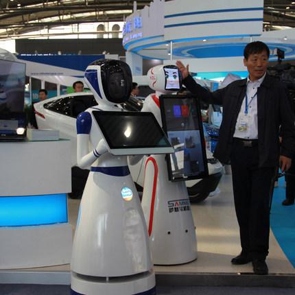 定点讲解机器人智能对话前台迎宾导购商用检察官机器人