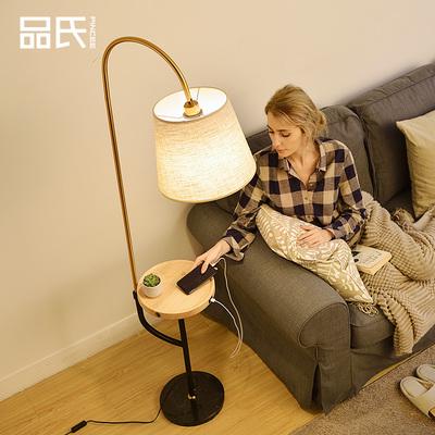 北欧钓鱼无线充电落地灯茶几客厅卧室床头灯创意美式轻奢立式台灯
