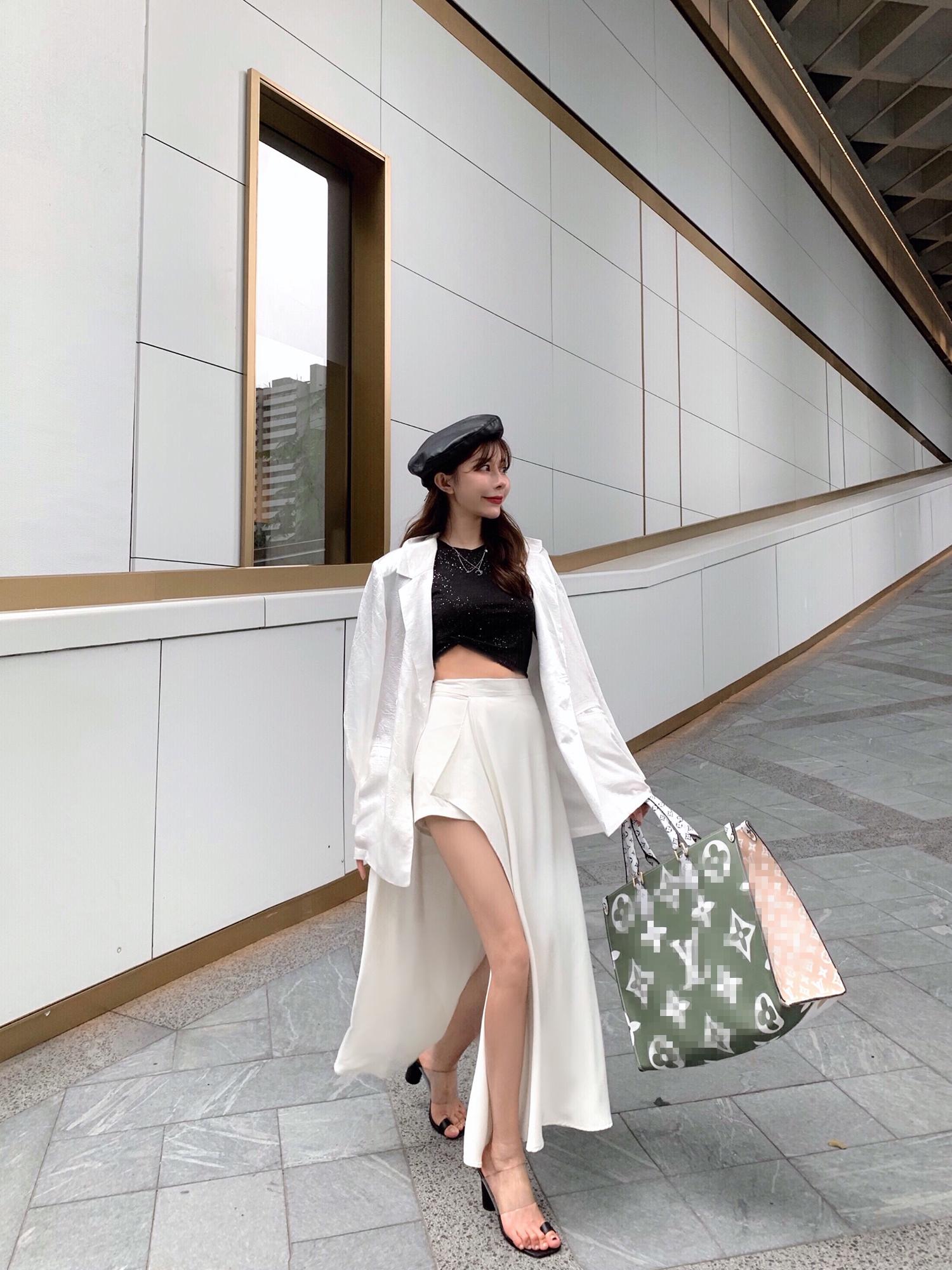 q女家高腰裙裤女a字显瘦韩版秋季2019新款可拆卸不规则休闲短裤子
