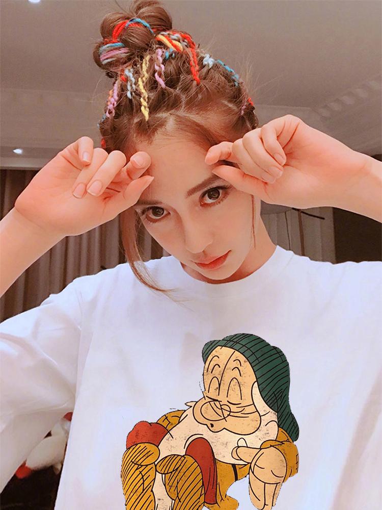 1103#180克双磨2019夏季新款韩版时尚休闲印花薄款短袖T恤女套头