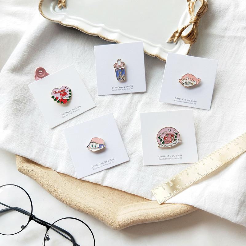 韩国milk胸针潮ins创意个性奶茶女孩金属徽章可爱日系扣卡通配件