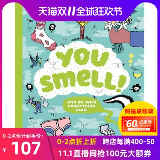 现货 你闻起来!! 英文原版 You Smell!! 青少年科普 插图读本 Clive Gifford 克莱夫·吉福德
